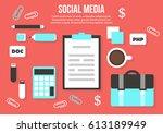 flat design modern vector... | Shutterstock .eps vector #613189949
