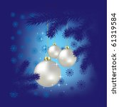 christmas balls and snowflakes... | Shutterstock . vector #61319584