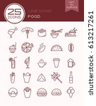 Line Icons Food