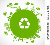 green earth   sustainable... | Shutterstock .eps vector #61321786