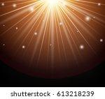 yellow  orange warm light... | Shutterstock .eps vector #613218239