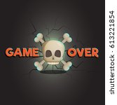 game over abstract vector game...
