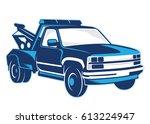 towing truck illustration | Shutterstock .eps vector #613224947