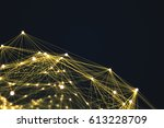 technology connection shape... | Shutterstock . vector #613228709