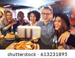 a group of best friends smiling ... | Shutterstock . vector #613231895