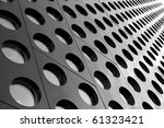 black and white doted... | Shutterstock . vector #61323421
