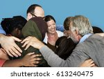 diverse group of people... | Shutterstock . vector #613240475