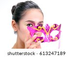 makeup asian woman model high... | Shutterstock . vector #613247189