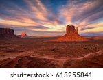 beautiful view of amazing... | Shutterstock . vector #613255841