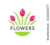 flowers logo vector. flower... | Shutterstock .eps vector #613263377