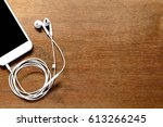aerial view of phone and... | Shutterstock . vector #613266245
