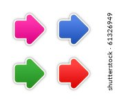 4 Colored Arrow Symbol Web 2.0...