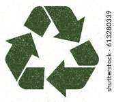 recycling symbol vector green... | Shutterstock .eps vector #613280339