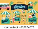 ramadhan bazaar template vector ... | Shutterstock .eps vector #613286075