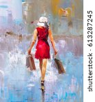Oil Painting   Fashion Lady