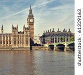 Houses Of Parliament At Summer...