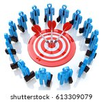 teamwork concept.isolated on... | Shutterstock . vector #613309079