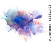 abstract watercolor splash... | Shutterstock . vector #613311425