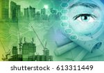 construction industry and... | Shutterstock . vector #613311449