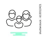 family icon flat. | Shutterstock .eps vector #613312421
