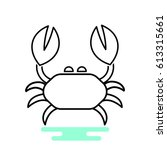 Crab Icon Vector.