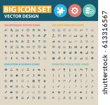 big icon set clean vector | Shutterstock .eps vector #613316567
