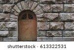 Metal Door On The Granite Ston...