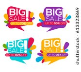 super sale  vector collection... | Shutterstock .eps vector #613323869