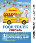 food truck festival poster... | Shutterstock .eps vector #613324925