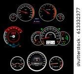realistic car dashboard. set   Shutterstock .eps vector #613332377