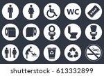 toilet icon set  wc restroom... | Shutterstock .eps vector #613332899