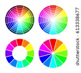 rgb color wheel from 12 color ... | Shutterstock .eps vector #613338677
