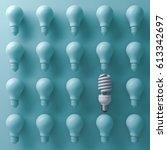 one eco energy saving light... | Shutterstock . vector #613342697