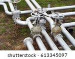 gas pipeline  oil pipeline | Shutterstock . vector #613345097