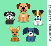 cartoon dogs | Shutterstock .eps vector #613345415