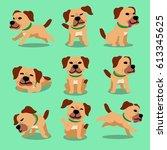 cartoon character dog poses | Shutterstock .eps vector #613345625