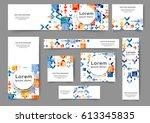 set of web banner templates for ...   Shutterstock .eps vector #613345835