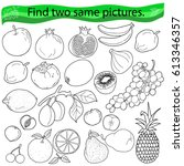find two same pictures ... | Shutterstock .eps vector #613346357