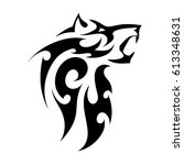 abstract vector tattoo of a...   Shutterstock .eps vector #613348631