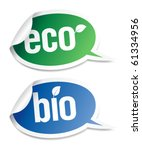 set of natural bio product... | Shutterstock .eps vector #61334956