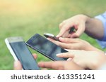contact business or close up of ...   Shutterstock . vector #613351241