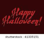 happy halloween hand draw... | Shutterstock .eps vector #61335151