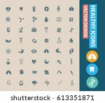 health care icon set clean... | Shutterstock .eps vector #613351871