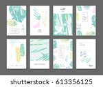 abstract pattern artistic cards.... | Shutterstock .eps vector #613356125