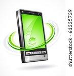 ecological phone   Shutterstock .eps vector #61335739