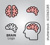 brain logo head silhouette... | Shutterstock .eps vector #613362185