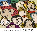 face art background   Shutterstock .eps vector #613362335