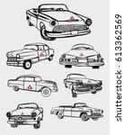 cuba havana american vintage... | Shutterstock .eps vector #613362569