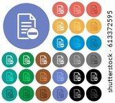 remove document multi colored... | Shutterstock .eps vector #613372595