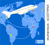vector image. traveling by... | Shutterstock .eps vector #613374965